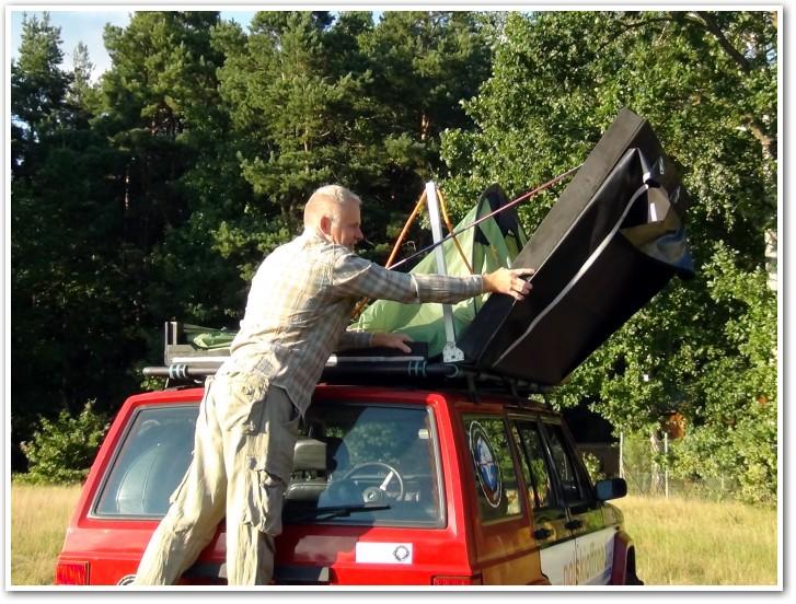 tani namiot dachowy własnej konstrukcji rozkładanie 09