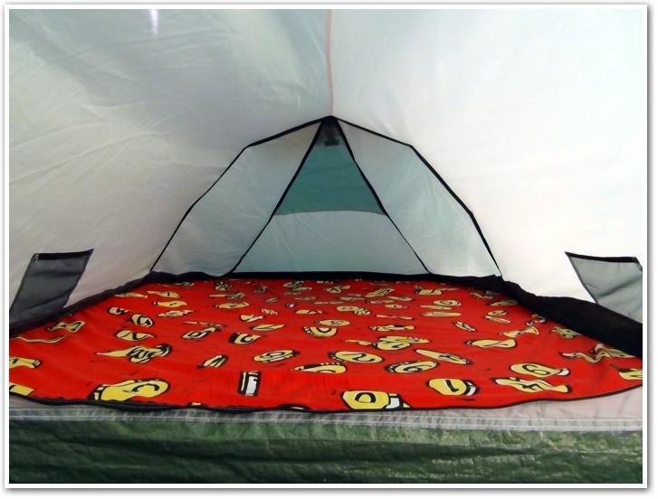 tani namiot dachowy własnej konstrukcji środek