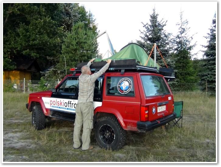 tani namiot dachowy własnej konstrukcji składanie 1