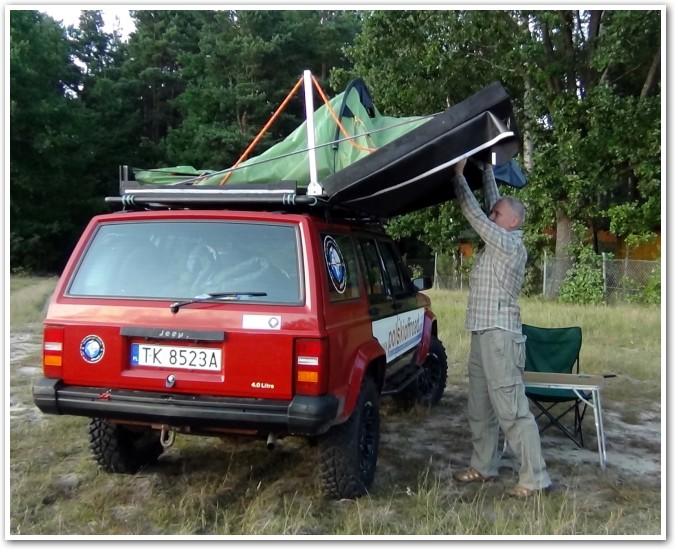 tani namiot dachowy własnej konstrukcji składanie 2