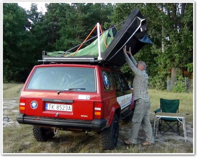 tani namiot dachowy własnej konstrukcji składanie 3