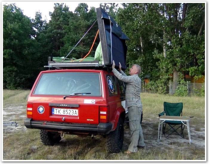 tani namiot dachowy własnej konstrukcji składanie 4