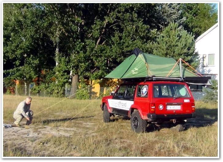 tani namiot dachowy własnej konstrukcji rozkładanie przedsionka 1