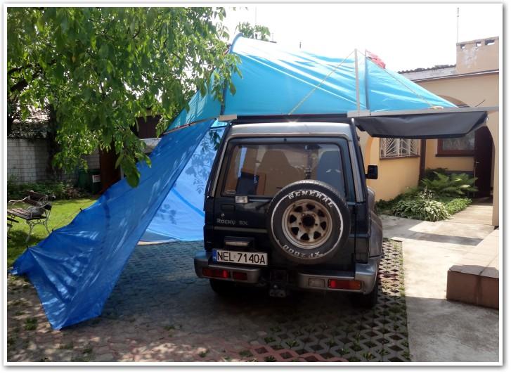 tani namiot dachowy własnej konstrukcji naDaihatsu Rocky 3
