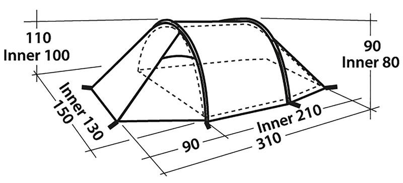 namiot Easy Camp Spirit 200 wymiary 1