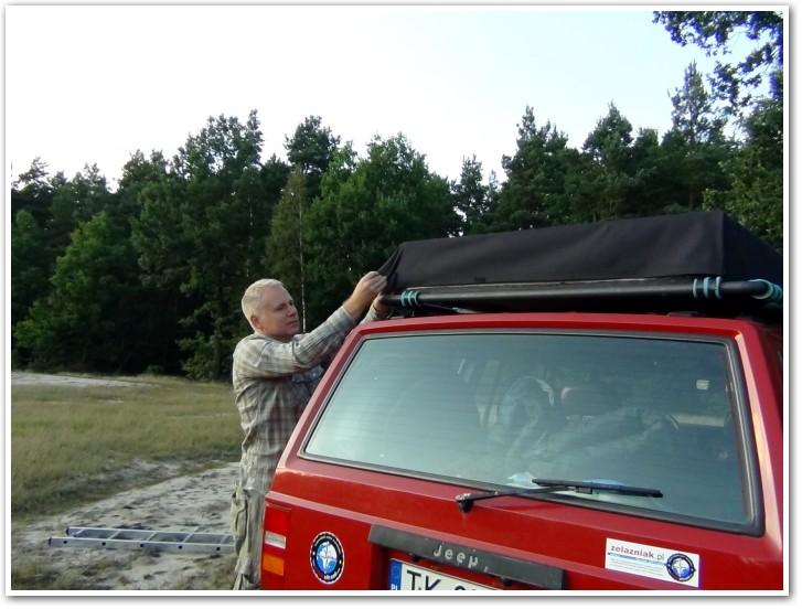 tani namiot dachowy własnej konstrukcji składanie 6