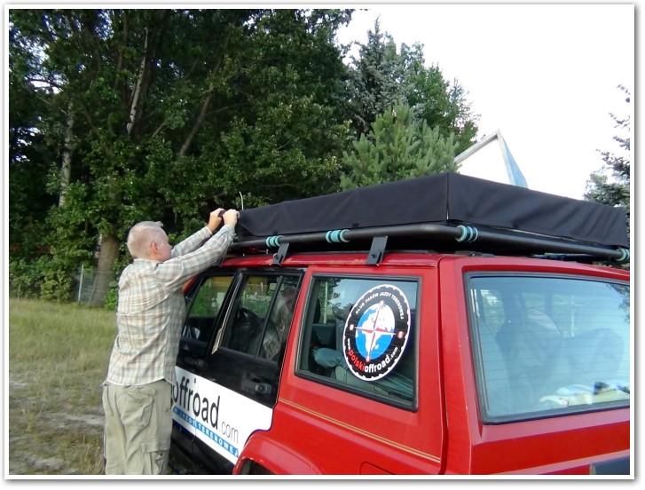 tani namiot dachowy własnej konstrukcji składanie 7