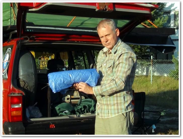 tani namiot dachowy własnej konstrukcji rozkładanie przedsionka 2