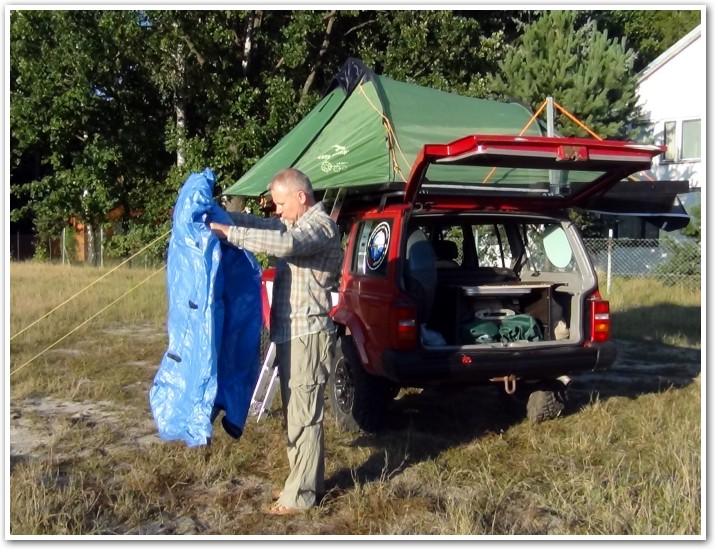 tani namiot dachowy własnej konstrukcji rozkładanie przedsionka 3