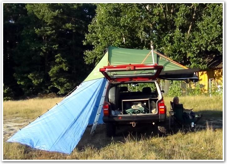 tani namiot dachowy własnej konstrukcji dodatkowe zadaszenie