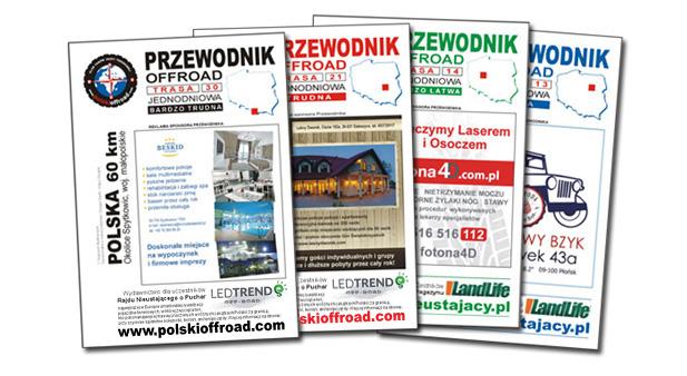 Przykłady reklam naokładkach Przewodników Offroad