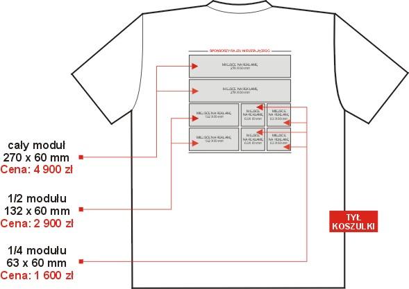 Reklama nakoszulce T-shirt - tył