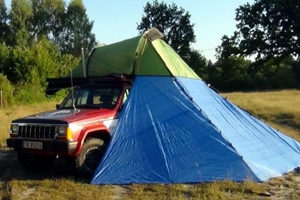 lekki namiot dachowy 2 osobowy